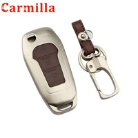 Carmilla Zink Alloy Craft Auto Folding Car Key Fob Case Cover For Ford Mondeo 1 5T