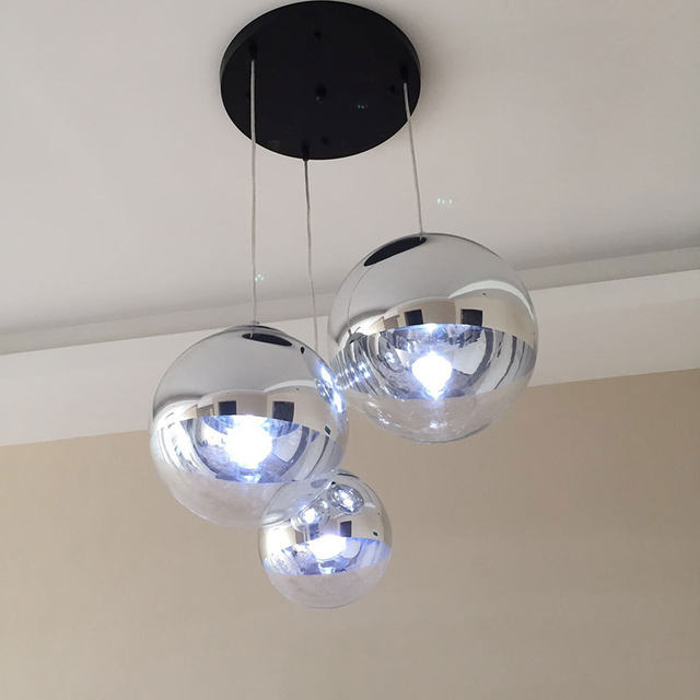 online shop modern nordic led clear glass globe round ball mirror