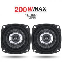 2pcs 4 Inch 2 Way 200W Car Speaker Automobile Car HiFi Audio Full Range Frequency Coaxial Speaker High Pitch Loudspeaker ht25 universal 150w 35mm high pitch car audio speaker black 2 pcs