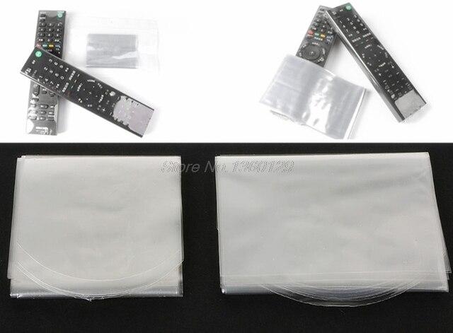 10 piezas de cubierta de película termoretráctil para Samsung LG TV aire acondicionado cubierta de Control remoto 6*25 cm 8*25 cm AUG_30 Dropship