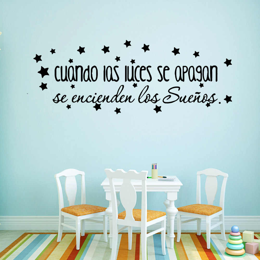 Spanish Quotes Sentences Wall Stickers Decorative Sticker Home Decor Vinyl Wall Art Decals for Living Room BedRoom Decoration