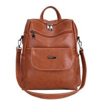 Vintage Women Backpack Youth PU Leather Backpacks Fashion Female School Shoulder Bag for Teenage Girls High Quality mochila