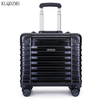 KLQDZMS 16inch fashion pc rolling luggage men and women universal wheel lightweight travel trolley suitcase