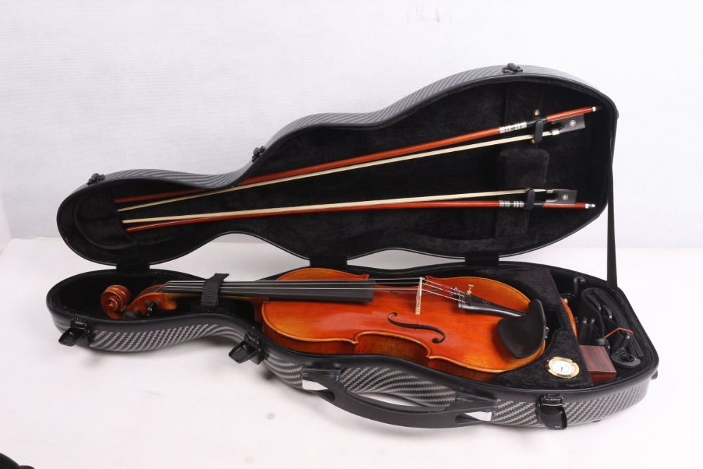 blue color high quality carbon fiber 4/4 New Violin Case Light Strong #00411 white 4 4 new violin case high quality carbon fiber black light strong can put two bow