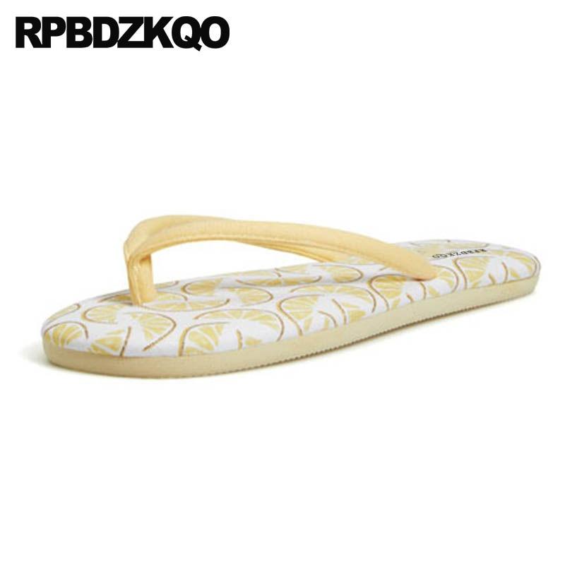 87ce71d6dd064 bedroom shoes cute indoor home flip flop ladies slipper big size slides  bathroom yellow house large plus sandals women beach