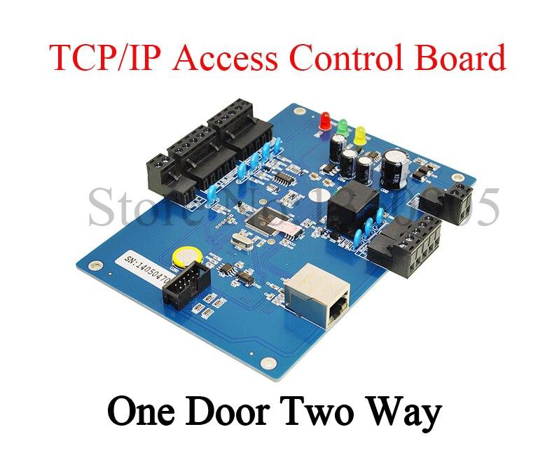 ФОТО TCP/IP single Door Two Way  Access Controller 26K Users 100K Event buffers Net Access Control Board WG26 Software Controller