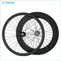 700C 23mm Width 38mm Front 88mm Rear Fixed Gear Track Bike Carbon Wheels Single Speed Clincher