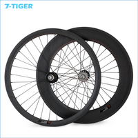 700C 23mm Width 38mm Front 88mm Rear Fixed Gear Track Bike Carbon Wheels Single Speed Clincher