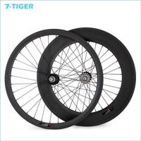 700C 23mm chiều rộng 38mm phía trước 88mm Rear Cố định bánh theo dõi xe đạp Carbon Wheels Single Speed móc sắt xe đạp 32-32 lỗ wheelset