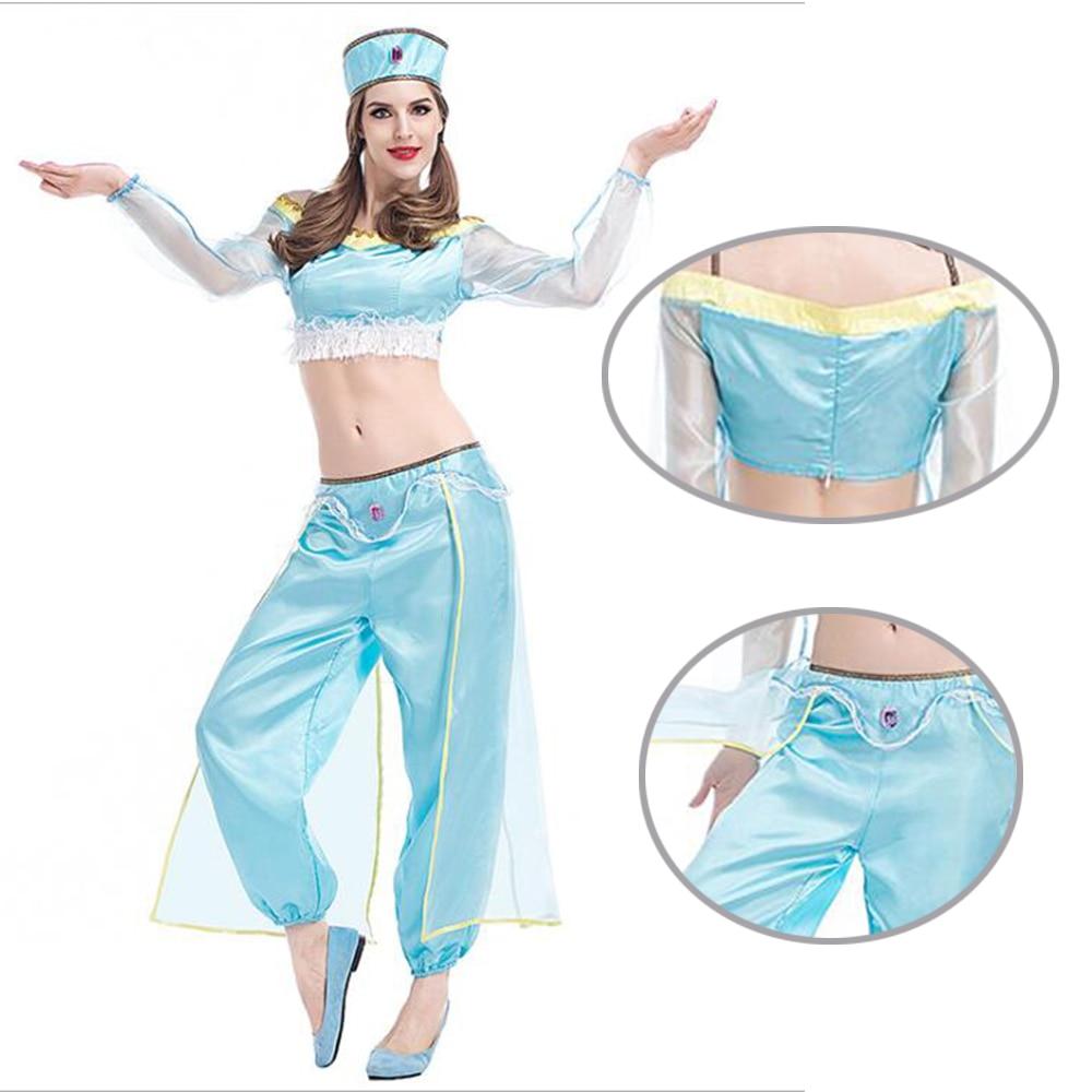 2017 Arab Princess Dancer Dress Arabic Arabian Dance dress Aladdin Princess Jasmine cosplay costume