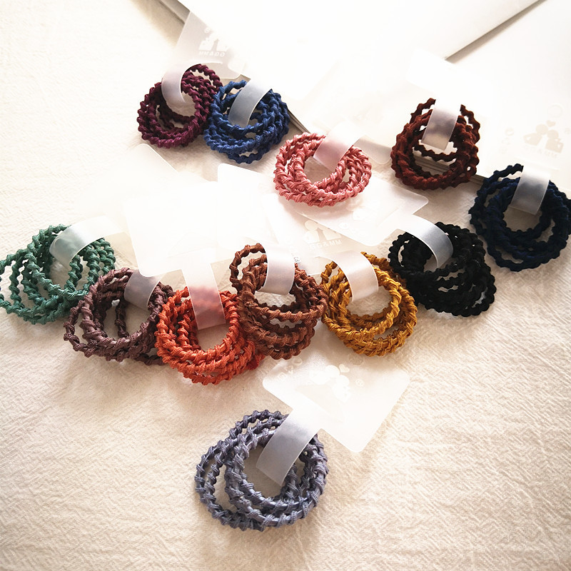 6pcs/lot New Girls Candy Colors Nylon Rubber Bands Children Safe Elastic Hair Bands Ponytail Holder Kids Hair Accessories
