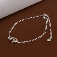2016 Hot Sale Gift Anklet Silver Color silver plated fashion jewelry anklet for women jewelry/iDSJEJPOZ