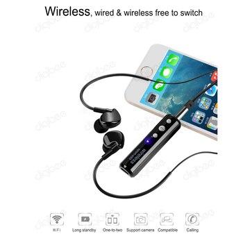 Mini HiFi Spor Stereo Kablolu ve Kablosuz Kulaklık Mikrofon Ile Müzik Bluetooth 4.1 Kulaklık Klip Bluetooth Ses Alıcısı