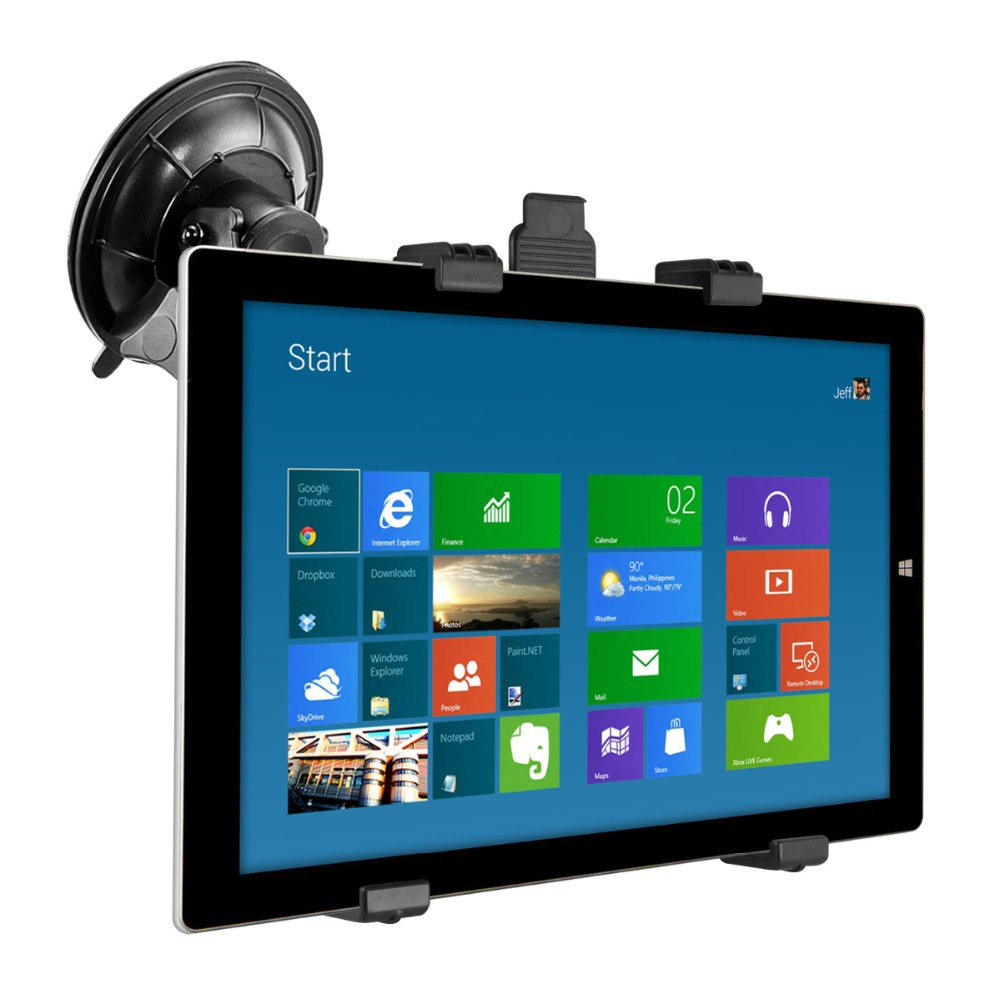 360° 7-13inch Tablet Car Windshield Bracket Mount Holder Stand for iPad GPS PC