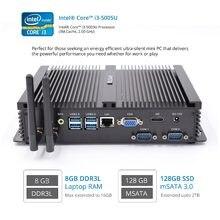 Bez wentylatora Mini komputer przemysłowy z systemem Windows 10 Core i5 4200U minikomputer Intel Core i5 7200U i3 5005U VGA HDMI Minipc