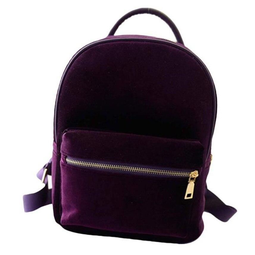 Bolsas 2017 Cute Backpack Women Gold Velvet Small Rucksack damen School bags  for women Book Shoulder bags Bolsa feminina-in Backpacks from Luggage   Bags  on ... 036974ad63f87