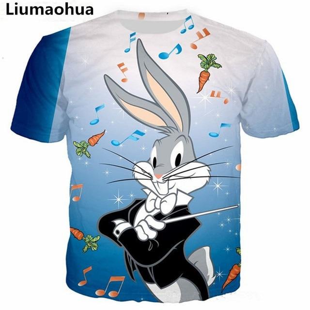 c4135a1525a9 Liumaohua New Fashion T-Shirt Donna Uomini Bugs Bunny Lola Stampa 3d T shirt  Bugs Bunny Cartoon pittura divertente t shirts Tops