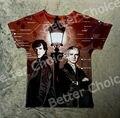 Pista Ship + Retro Vintage Camiseta Top Tee Sherlock Holme y Watson Encontrar Al Lado de Calle Lámpara de La Línea 0854 del Metro de Londres