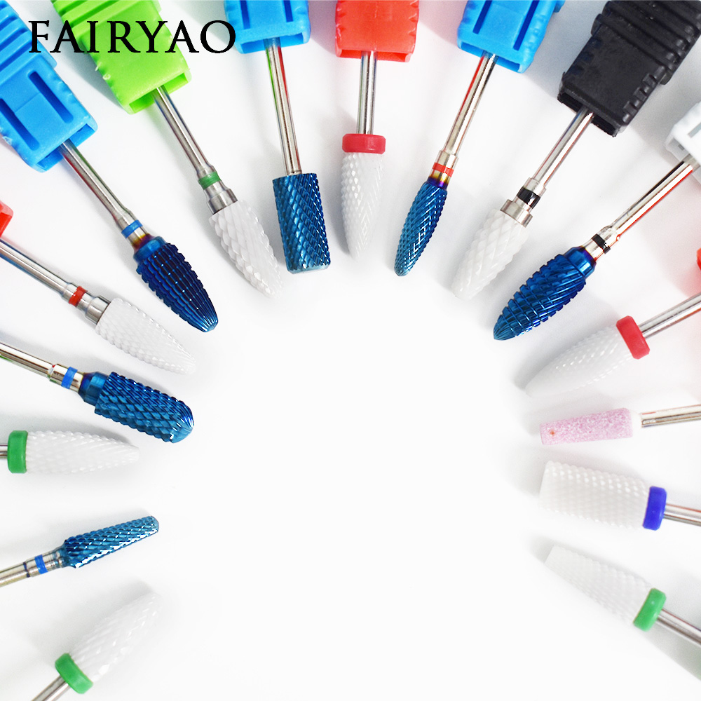 Ceramic Nail Art Tools Milling Cutter For Manicure Pedicure Nail Drill Apparatus Rotary Manicure Device set of milling cutters ceramic nail art tools milling cutter for manicure pedicure nail drill apparatus rotary manicure device set of milling cutters