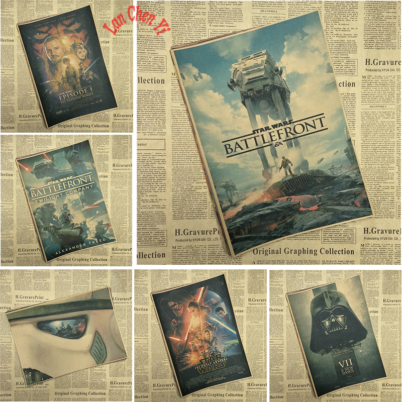 Star Wars 1 Classic Game Kraft Paper Poster Bar Cafe Living Room Dining room Decorative Paintings