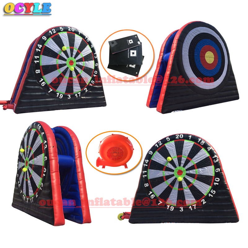 OCYLE Hot,3mGiant inflatable dart board/Inflatable human Darts/Inflatable Soccer foot dart board/Inflatable football dart game hot outdoor games inflatable football shoot game inflatable football darts inflatable soccer kick games for kids n adults