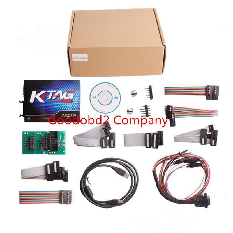 Prix pour KTAG K-TAG Programmation de L'ECU KTAG KESS V2 100% J-tag Compatible Auto ECU Prog Outil Maître Version V1.89 et V2.06