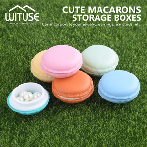 WITUSE 1PC Mini Macarons Organizer Storage Box Case Carrying Pouch Hot Makeup Organizer Case Sundries Cosmetic Macaroon Cases
