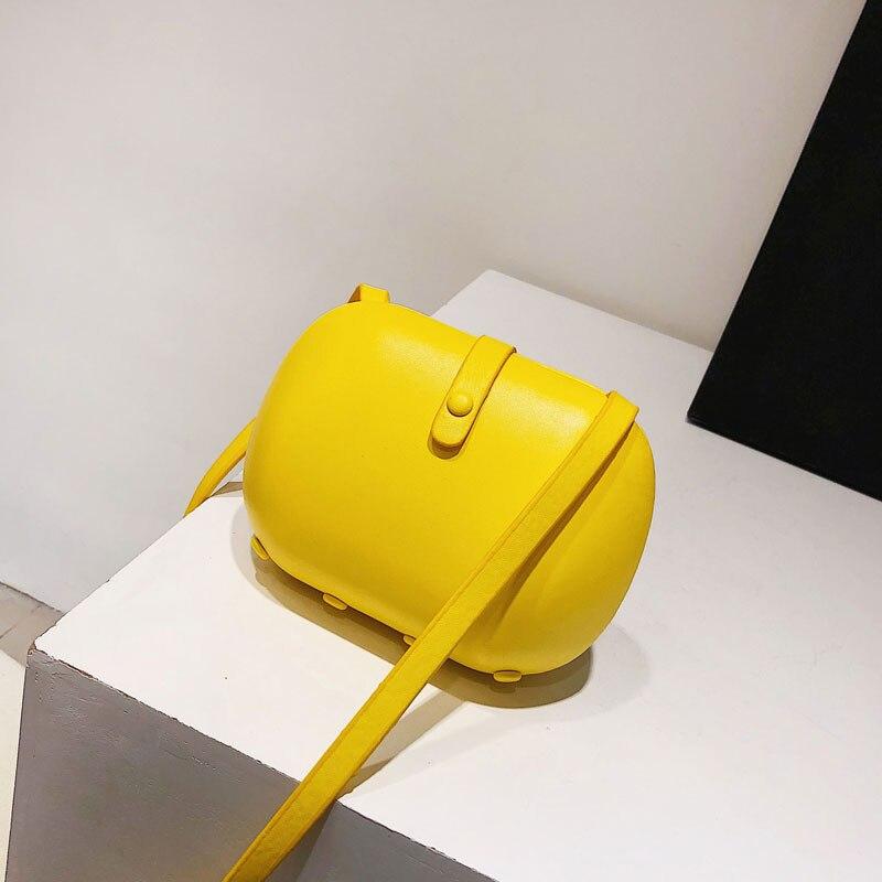 Brand Di black Borsette 4934 Superficie Singolo yellow Colore Solido Spalla Morbida khaki l Della White Signora pink Magnetic New Fibbia Sacchetto 0Tqtt6