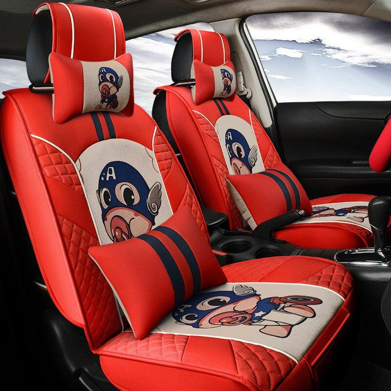 Kkysyelva спереди и сзади из искусственной кожи Авто Универсальная автомобильная Чехлы для сидений мотоциклов Автомобильный Чехол автокресла