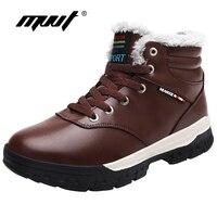 בתוספת גודל חורף מגפי גברים נעלי חורף מקרית אופנה לשמור על פרווה חמה מגפי פלטפורמת הגדלת גובה מגפי שלג לגברים