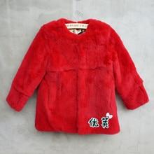 HOT Fashion New Child fur coat,100% rex rabbit fur coat,Kid's fur jacket winter coat outerwear free shipping CFB309N