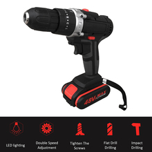 Multifunctional Cordless Electric drill powerful Rechargeable Lithium Battery Cordless Hand Drills Home DIY Electric Power Tools цена и фото