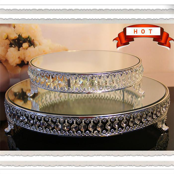 Free Shipping Fashion Metal Wedding Cake Stand Dessert Rack Pallet Glass Diamond Fruit Tools For Decoration In Stands From Home Garden