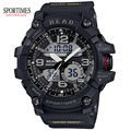 SPORTIMES 90001 Men Sport Military Quartz Watches Round Dial Large Digital Scale Analog WristWatch Relogio Masculino