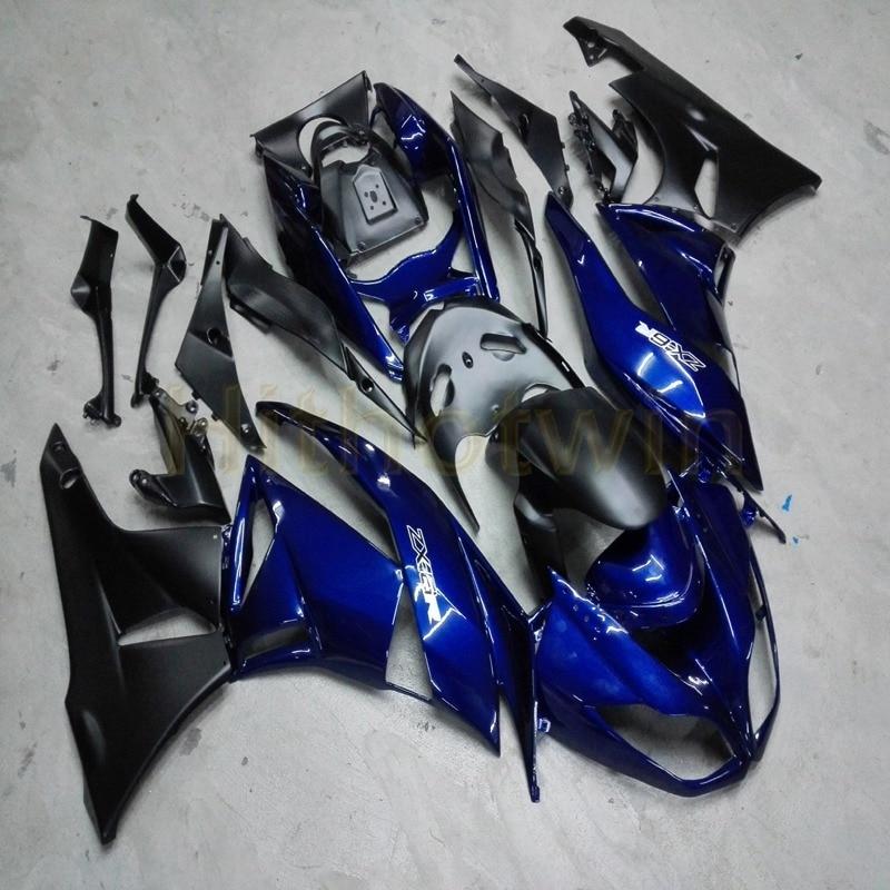 На заказ + винты литьевой формы черный мотоцикл Обтекатели ZX 6R 09 12 для zx6r 2009 2012 ZX6R 636 - 4