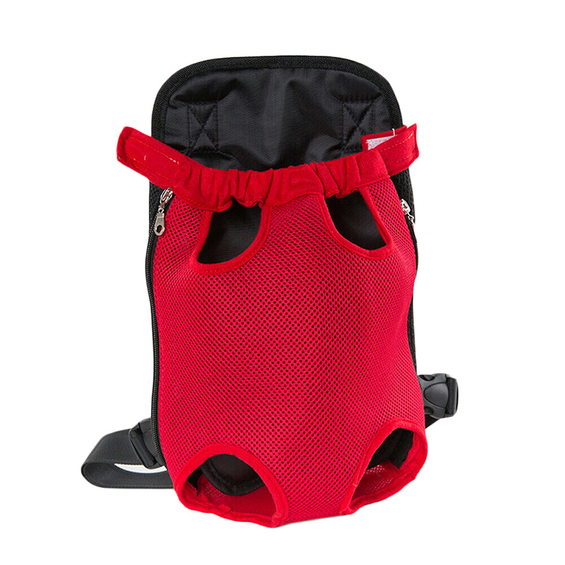 Pet Carrier Dog Front Chest Backpack Five Holes Backpack Dog Outdoor Carrier Tote Bag Sling Holder Mesh Cat Puppy Dog Carrier 11