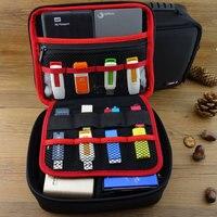 Grote Maat Elektronische Gadgets Opbergtas Neopreen Travel Organizer Case Voor HDD USB Flash Drive Datakabel Digitale Accessoires