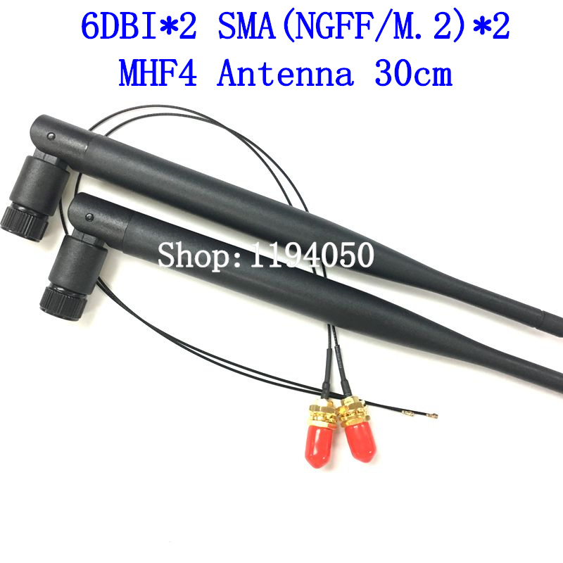 NGFF M.2 Sma schnittstelle db omni antenne wireless router netzwerkkarte 2,4 GHz 5 GHz 5,8 GHz Dual Band WiFi MHF4 IPX IPEX