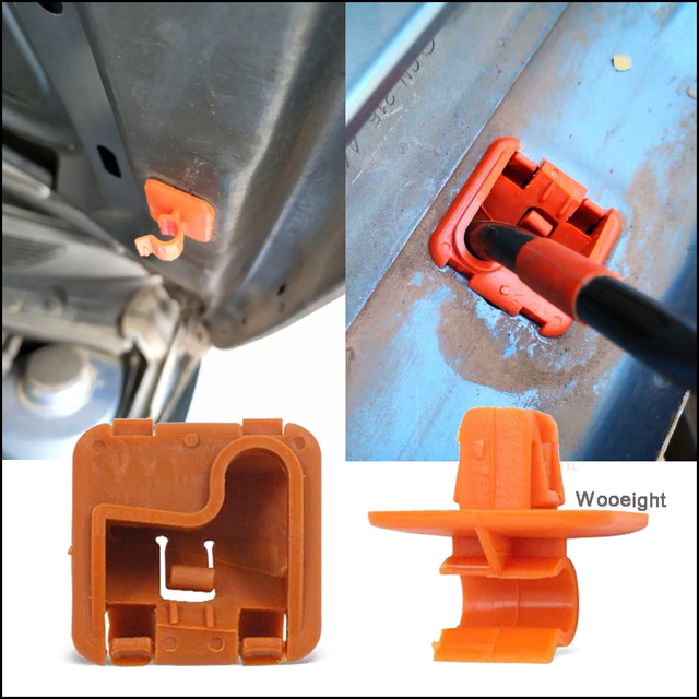 Wooeight 1U0823570A Plastic Car Roomster Hood Bonnet Rod Stay Bracket Buckle Clip For Skoda Fabia Octavia MK2 2004 - 2012 2013