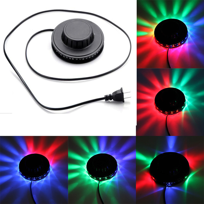 Sound Activated Revolving UFO LED Music Laser Stage KTV Bar Party Wedding Club Projector Light Party light 8W 220V EU Plug