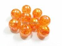 (Scegliere il Formato in Primo Luogo) 12mm/16mm/20mm Arancione AB Chunky Beads Crack