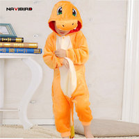 Winter Flannel Animal Orange Dragon Cosplay Costumes For Kids Unicorn Pajama Adults Cute Pijamas For Couple