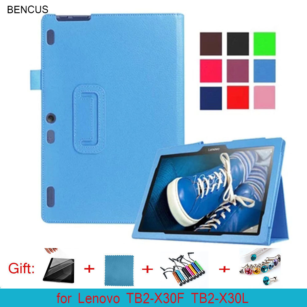 BENCUS PU Magnetic Folio Folding Stand Leather Case Cover For Lenovo Tab 2 A10-30 TB2-X30F TB2-X30L 10.1 inch Tablet PC