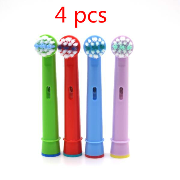 Replacement Kids Children Tooth Brush Heads For Oral B EB-10A Pro-Health Stages Electric Toothbrush Oral Care(4 pcs) image