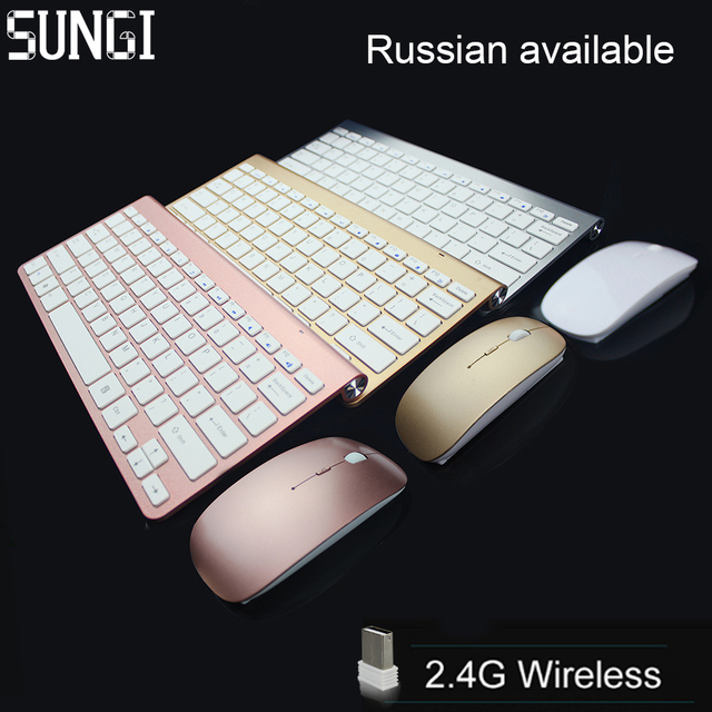SUNGI 2.4Ghz Ultra-Thin Wireless Keyboard And Mouse Combo With USB Receiver Mouse Keyboard 612 set For Apple PC WindowsXP/7/8/10