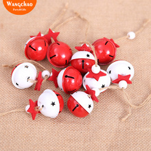 10PCS/BAG Christmas Decorations Bell Pendants Tree Decoration Accessories Ornaments Merry Deals