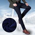 Autumn and winter new men's Blue Fleece jeans thicken warm leisure jeans male Soft and comfortable slim demin trousers