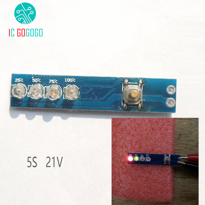 5S 21V 18650 Lithium Battery Capacity Indicator Percent Power Level Tester Smart power led display board Lithium Battery