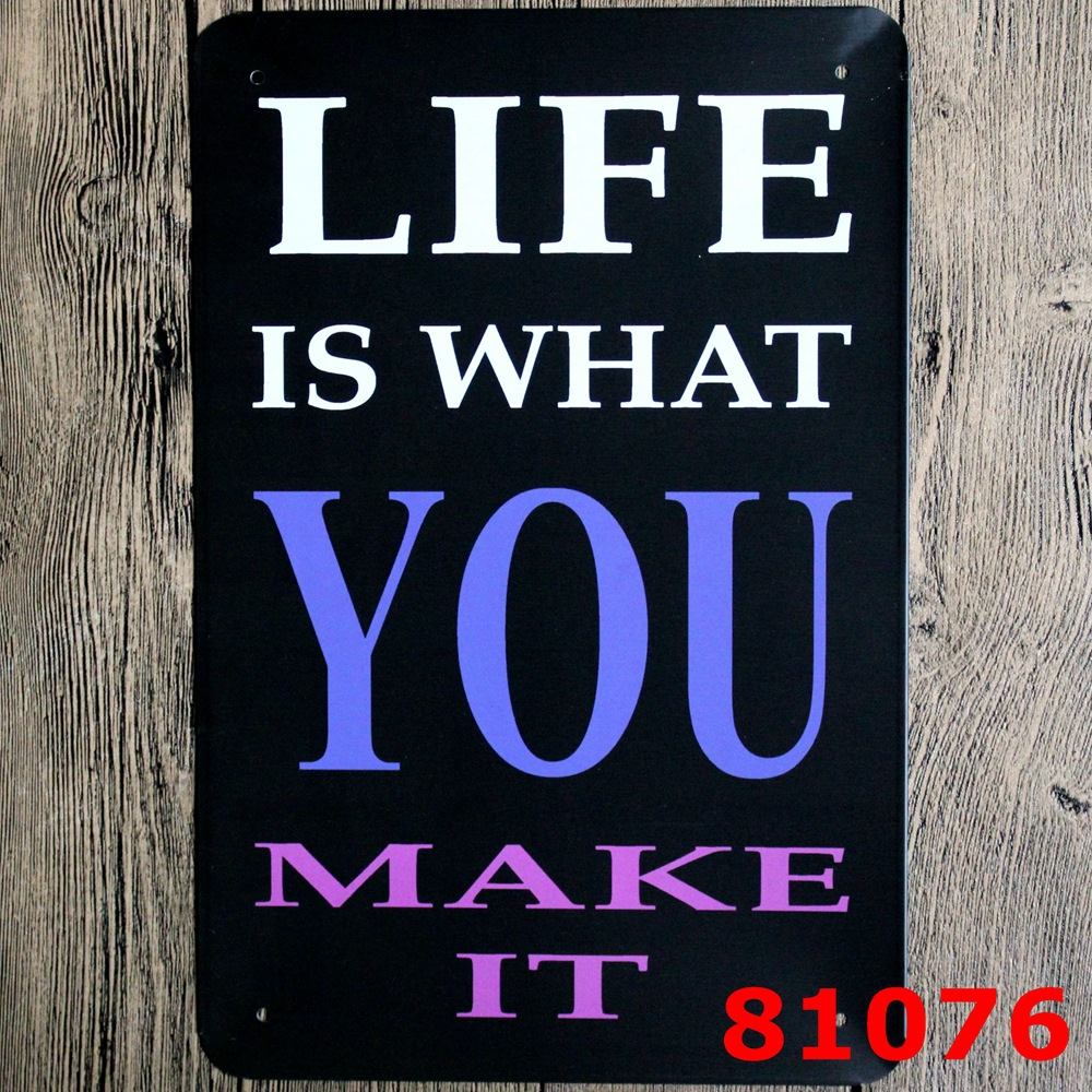 compare prices on christmas signs online shopping buy low life is what you make it retro metal plate sign man cave christmas gift h