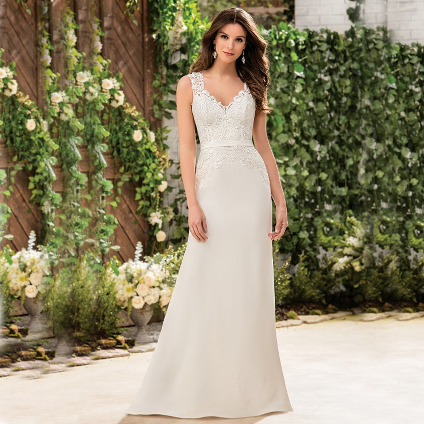 Lace Mermaid Wedding Gown With Straps: FW3008 Vnaix Cheap Sexy Chiffon Mermaid Wedding Dresses